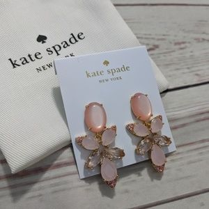 Kate Spade Blushing Blooms Drop Earrings Statement